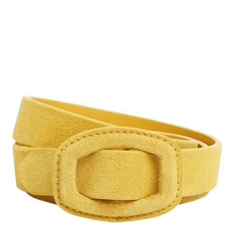 Hobbs London Yellow Suede Leona Belt