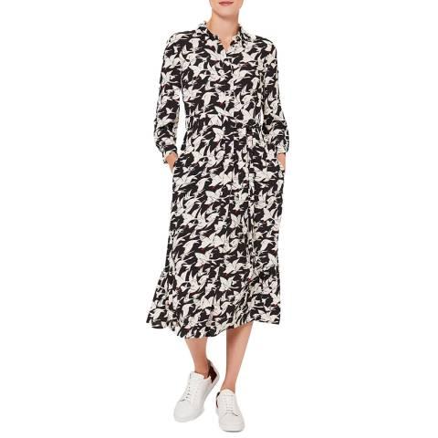 Hobbs London BLACK IVORY ELIANA DRESS