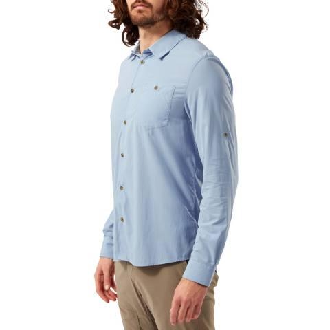 Craghoppers Blue Long Sleeved Shirt