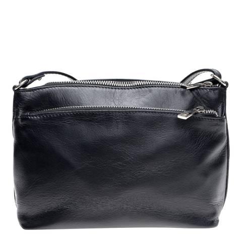 Mangotti Black Leather Shoulder Bag