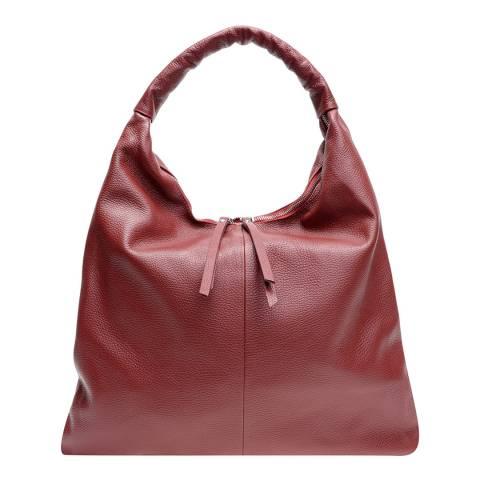 Mangotti Red Leather Top Handle Bag