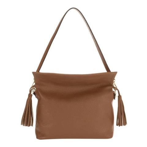 Massimo Castelli Brown Leather Shoulder Bag