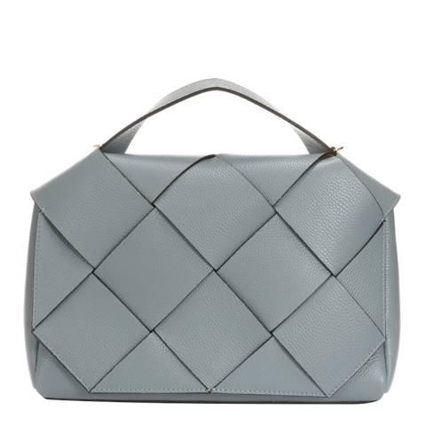 Giorgio Costa Blue Leather Top Handle