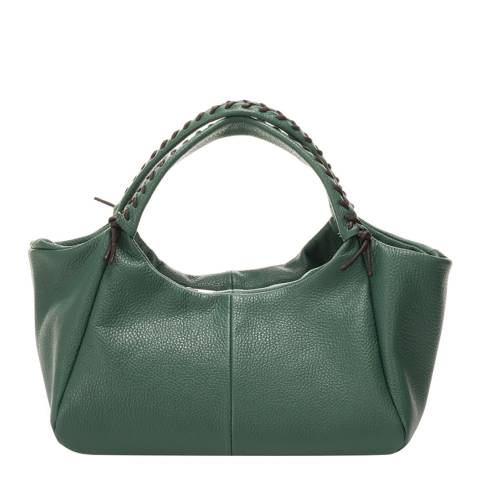 Giulia Massari Green Leather Shoulder Bag