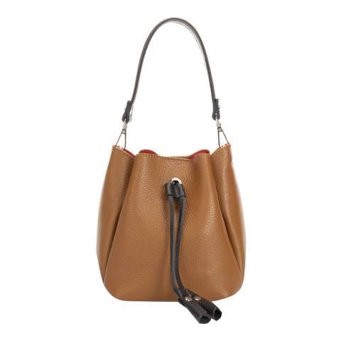 Giorgio Costa Brown Leather Bucket Bag