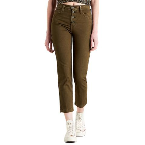Levi's Brown 724™ High Rise Utility Stretch Jeans