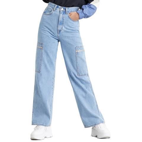 Levi's Blue High Rise Utility Jeans