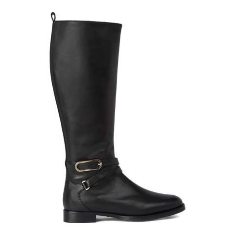 Hobbs London Black Leather Lydia Knee Boots