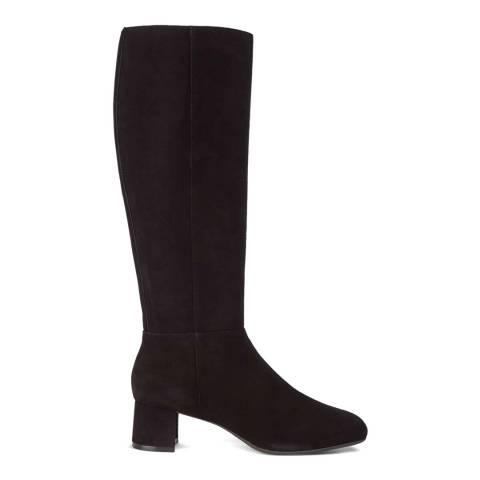 Hobbs London Black Suede Hailey Knee Boots