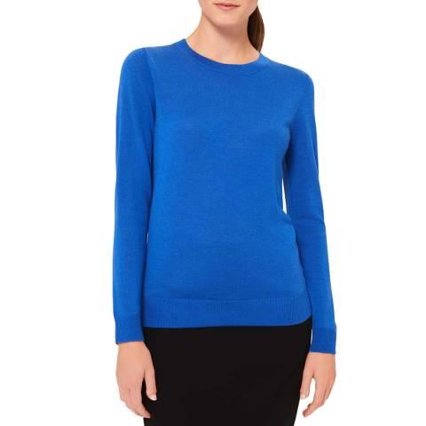 Hobbs London Blue Penny Merino Wool Jumper