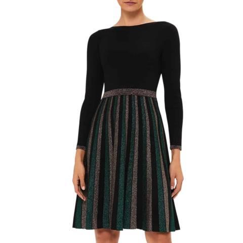 Hobbs London Black Adrianna Knitted Dress