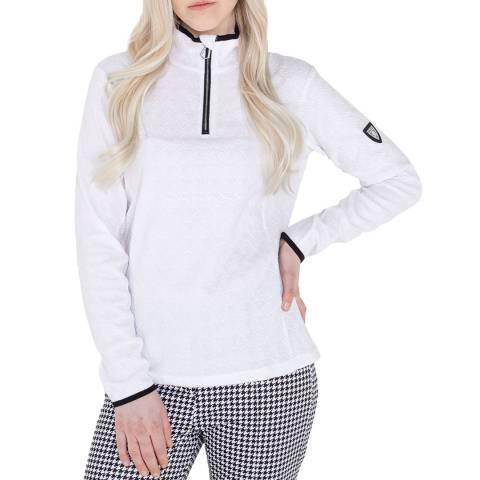 Dare2B White Half Zip Fleece