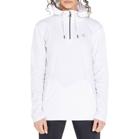 Dare2B White Half Zip Luxe Fleece