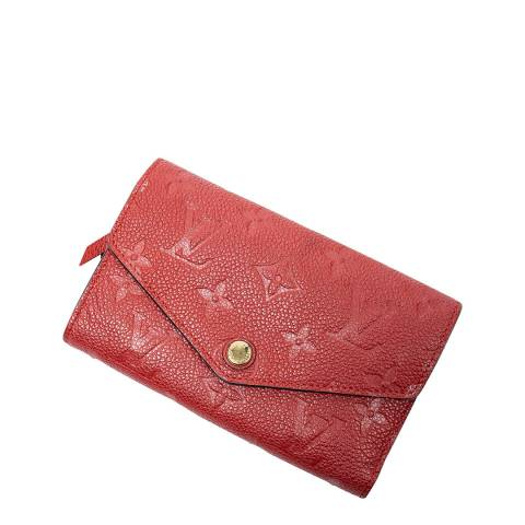 Louis Vuitton Red Curieuse Compact Wallet