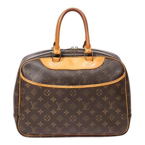 Louis Vuitton Brown Deauville Handbag