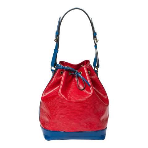 Louis Vuitton Red Blue Noe Stitching Shoulder Bag