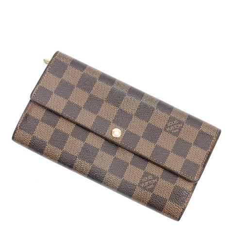 Louis Vuitton Brown Sarah 10 Wallet