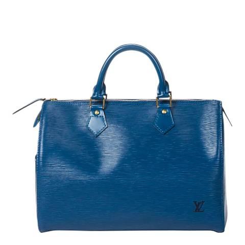 Louis Vuitton Blue Speedy Handbag