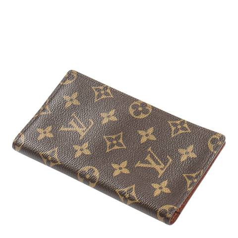 Louis Vuitton Brown Bifold Check Card Holder