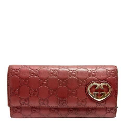 Gucci Bordeaux Gucci Lovely Heart Wallet