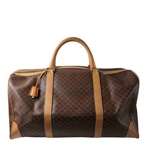 Celine Brown Celine Macadam Travel Bag