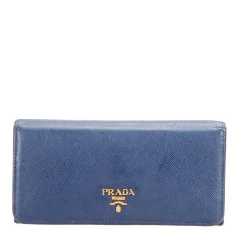 Prada Blue Prada Wallet