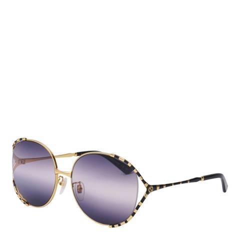 Gucci Women's Gucci Gold/Black Sunglasses 59mm