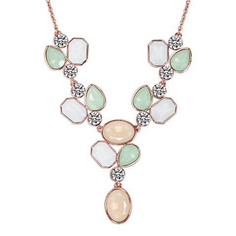 Saint Francis Crystals Rose Gold Flower Necklace with Swarovski Crystals