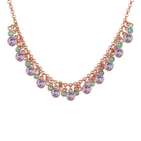 Lilly & Chloe Rose Gold Multi Colour Swarovski Crystal Necklace