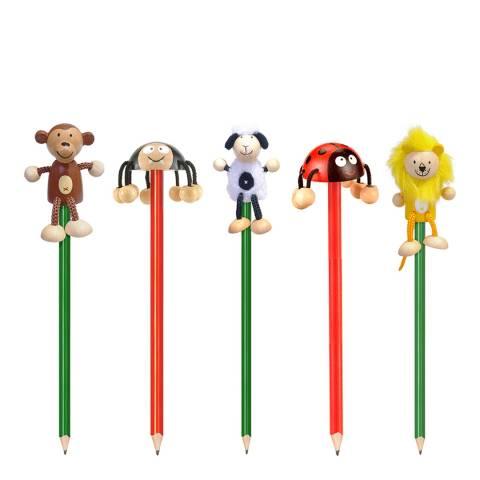 Fiesta Crafts Pack of 5 Animal Pencils