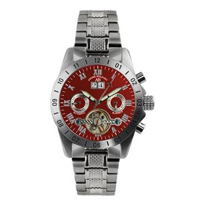 Andre Belfort Men's Silver/Red Galactique Watch