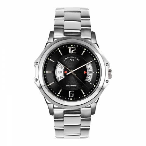 Andre Belfort Men's Silver/Black Stainless Steel Grande Classe Watch