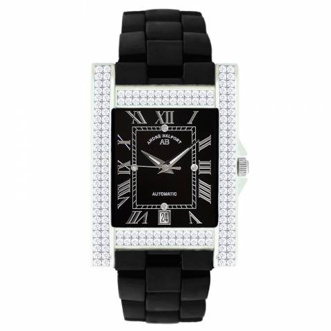 Andre Belfort Women's Black/Silver Diamond Hera Schwarz Watch