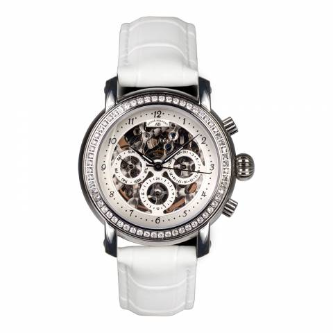 Andre Belfort Men's White/Silver Intemporelle Watch
