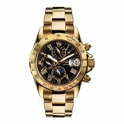 Andre Belfort Men's Gold/Black Le Capitaine Watch