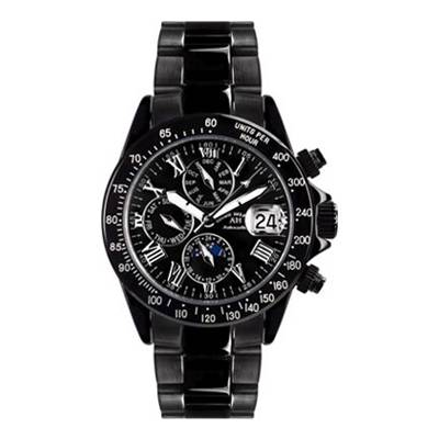 Andre Belfort Men's Black Stainless Steel Le Capitaine Watch