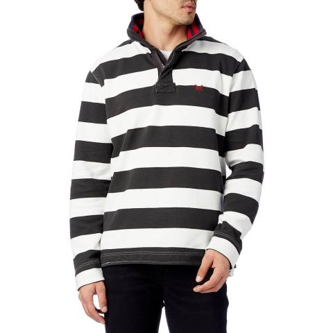 Crew Clothing Striped Pique Cotton Sweatshirt