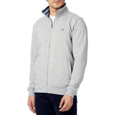 Crew Clothing Grey Full Zip Through Hoodie