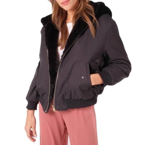 JayLey Collection Black Faux Fur Reversible Jacket