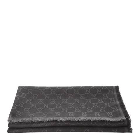 Gucci Dark Grey Wool Scarf