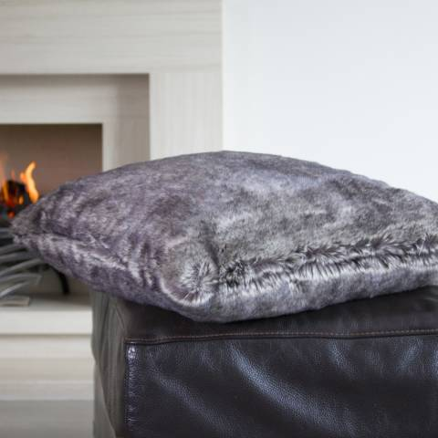 Deyongs Brown Crawford Faux Fur Cushion 50x50cm