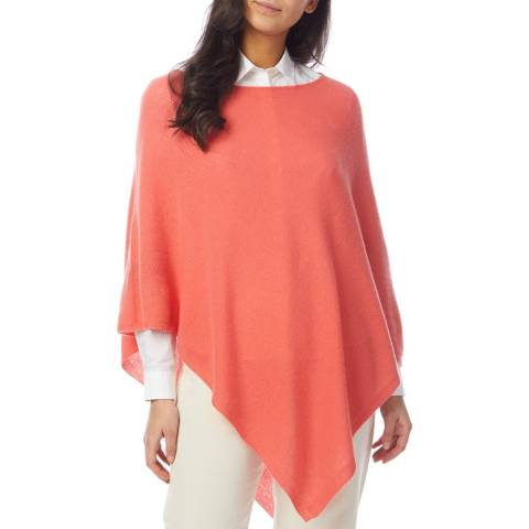 Laycuna London Coral Cashmere Poncho