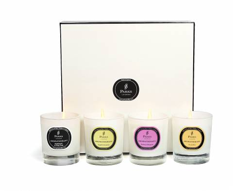 Parks London Set Of Four Candles Luxury Gift Set Selection Three