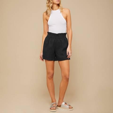 N°· Eleven Black Linen Paperbag Short