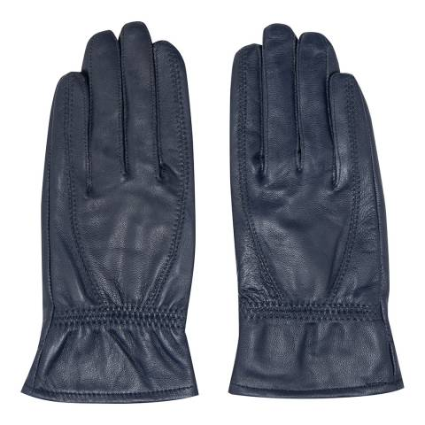 JayLey Collection Navy Leather Gloves