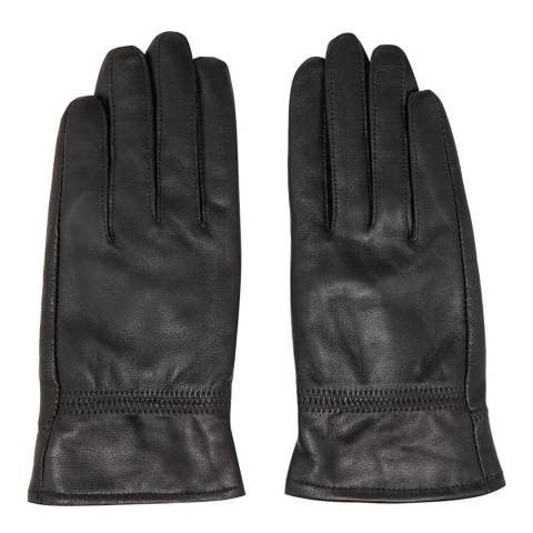 JayLey Collection Black Leather Gloves