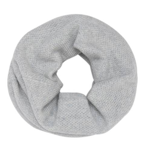 Laycuna London Light Grey Luxury Cashmere Snood