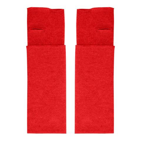 Laycuna London Red Cashmere Wrist Warmers