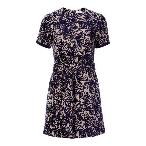 VICTORIA, VICTORIA BECKHAM Midnight/Blush Pocket Detail Dress