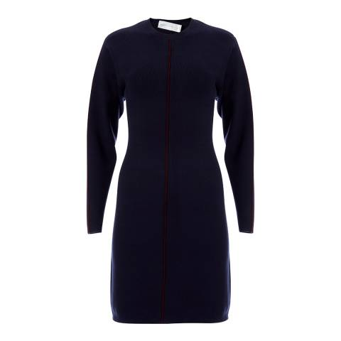 VICTORIA, VICTORIA BECKHAM Midnight Drop Sleeve A Line Dress